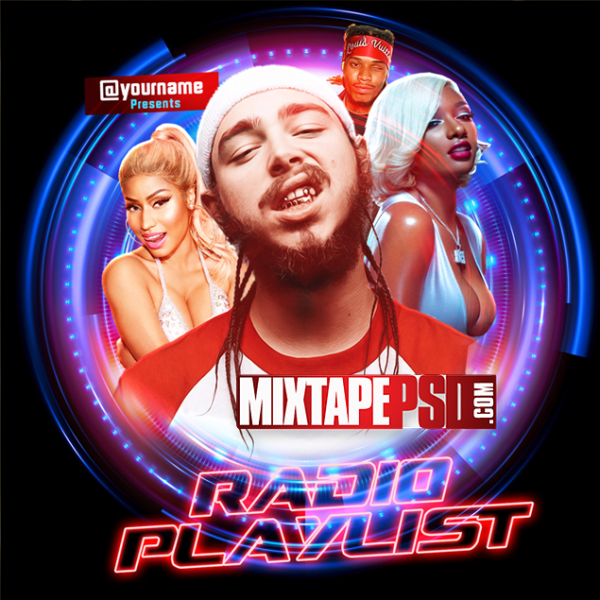 Mixtape Cover Template Radio Playlist 2, Mixtapepsd, PSD Mixtape, Mixtape