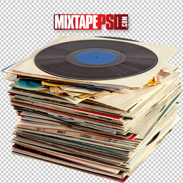 HD Old School Pile of Records