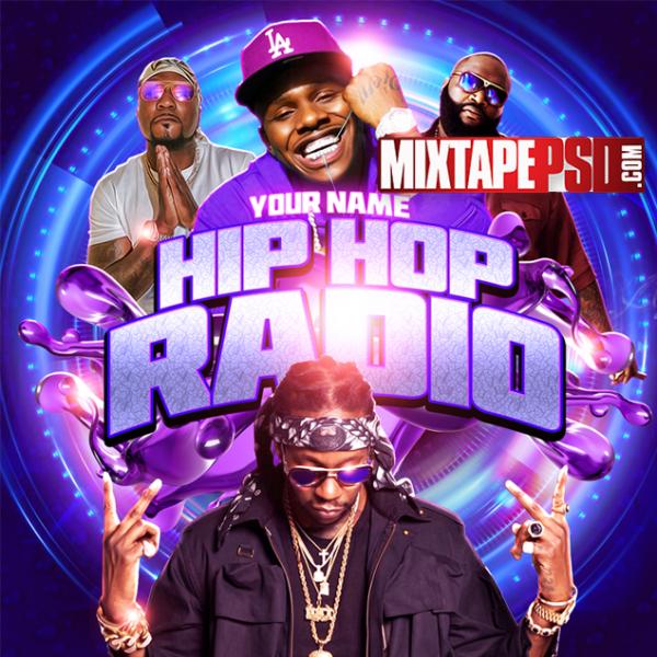 Mixtape Cover Template Hip Hop Radio 102