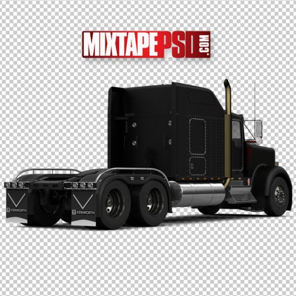 Black Rear 18 Wheeler Bed Trailer Truck