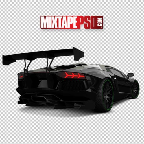 Black Rear End Lamborghini