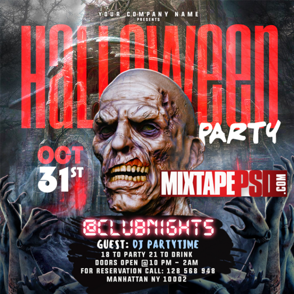 Flyer Template Halloween Party 4