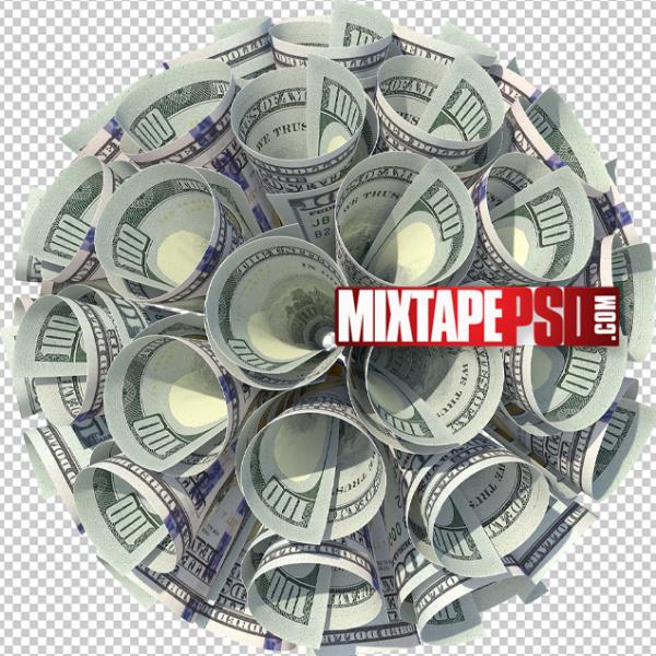 HD Circular 100 Dollar Bills PNG