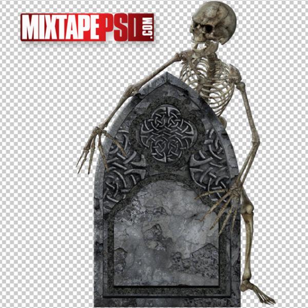 Halloween Skeleton Tombstone