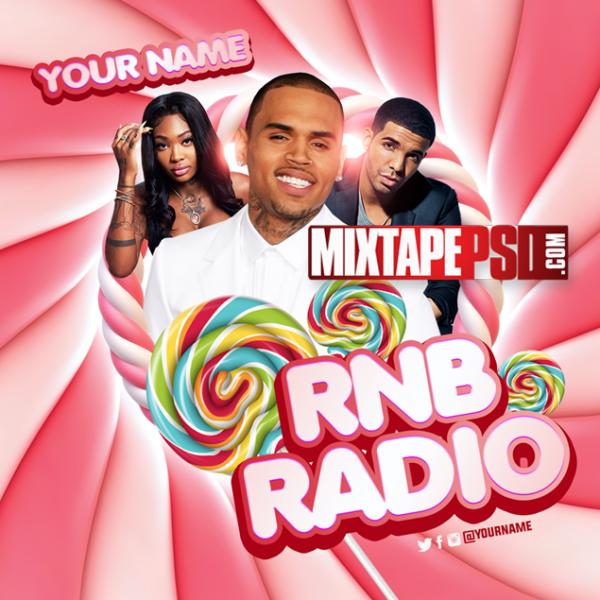 Mixtape Cover Template RNB Radio 47, Mixtapepsd, PSD Mixtape, Mixtape
