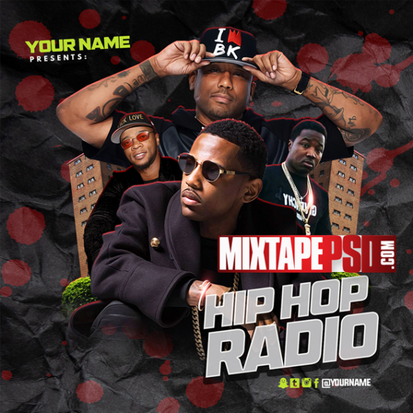 Mixtape Cover Template Hip Hop Radio 103, Mixtapepsd, PSD Mixtape, Mixtape