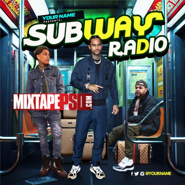 Mixtape Cover Template Subway Radio, Mixtapepsd, PSD Mixtape, Mixtape