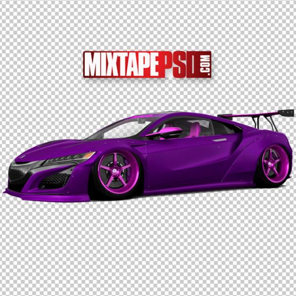 Purple Pink Sports Car