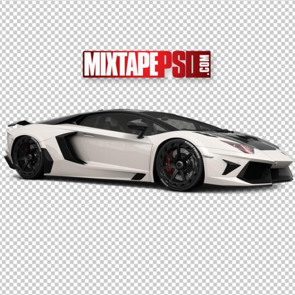 White Black Lamborghini
