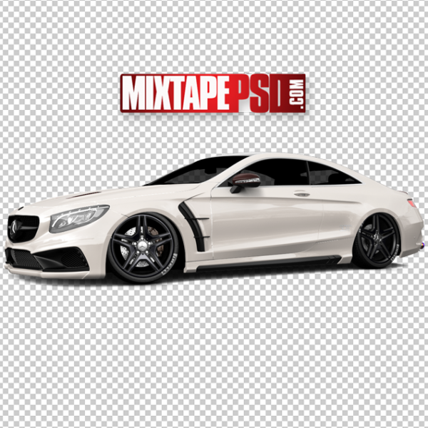 White Mercedes Benz Coupe