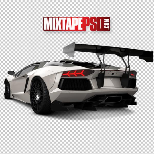 White Rear End Lamborghini