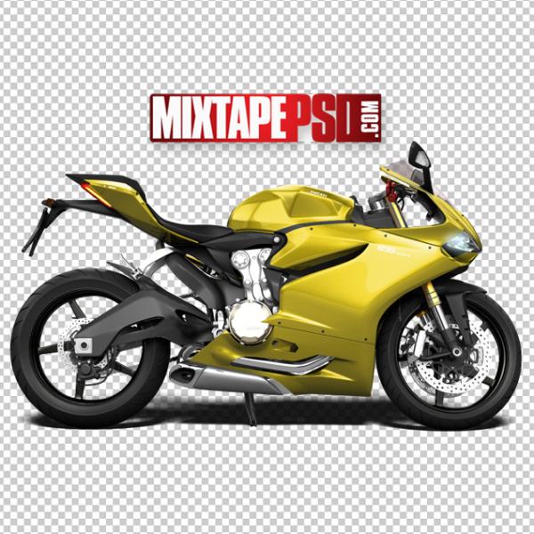 Black Yellow Ducati Motorcycle