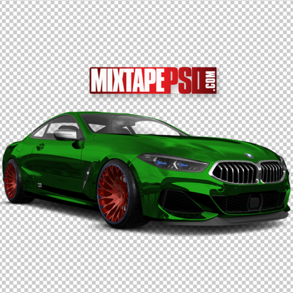 Green Red BMW Coupe