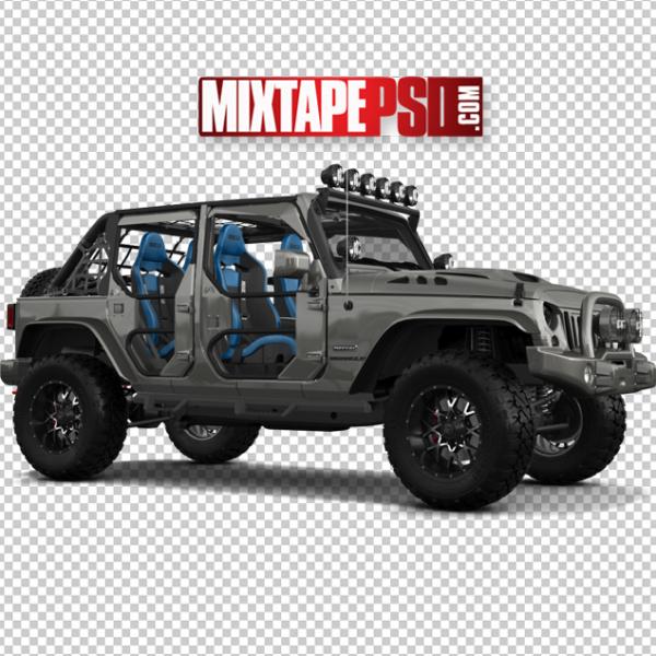 Grey Off Road Jeep Wrangler
