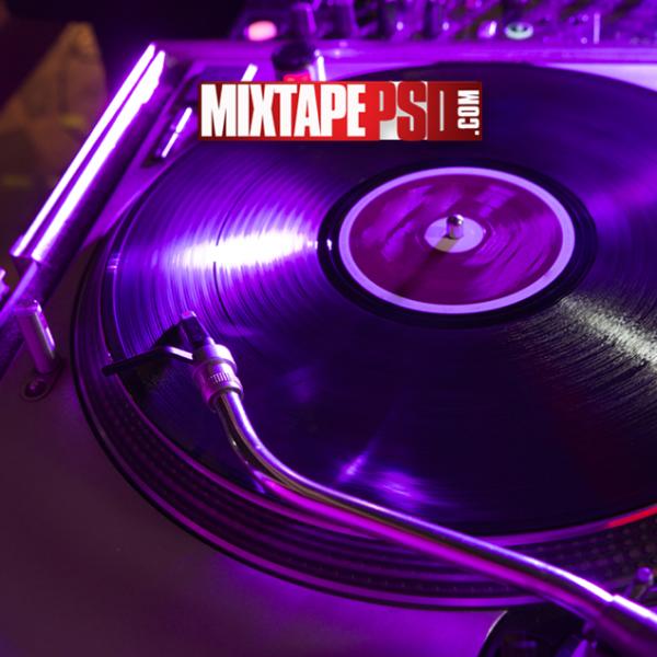 HD DeeJay Turntable Purple Light