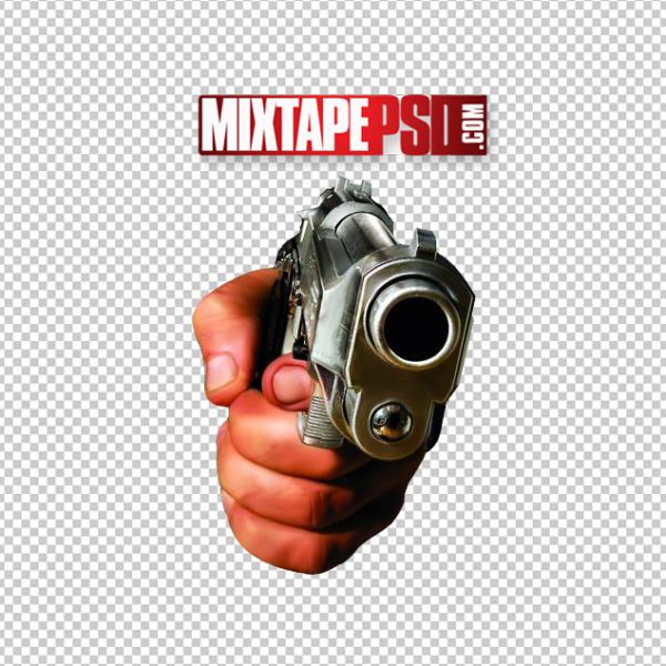Hand Holding Gun Template 3