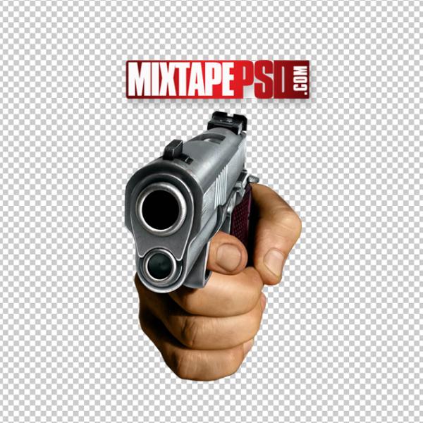 Hand Holding Gun Template