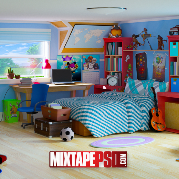 Kids Rooms Vector Background 2