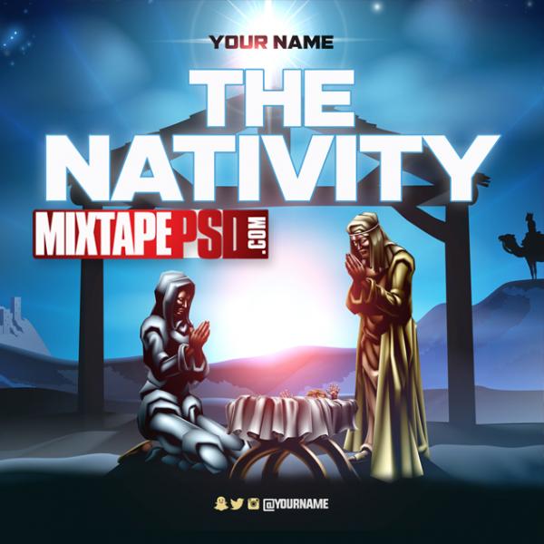 Free Nativity Mixtape Cover PSD