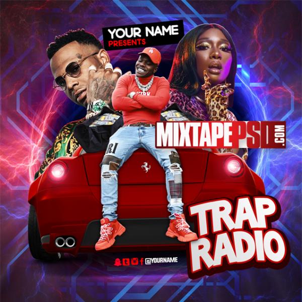 Mixtape Cover Template Trap Radio 9, Mixtape PSD, Mixtapepsd, Mixtape Cover Templates, Free Mixtape PSD Templates