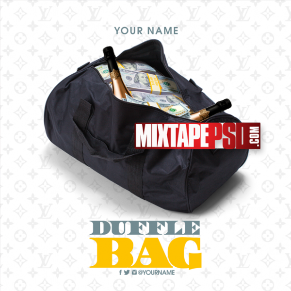 Mixtape Cover Template Duffle Bag Money, Mixtapepsd, PSD Mixtape, Mixtape, Mixtape PSD, Mixtapepsd, Mixtape Cover Templates, Free Mixtape PSD Templates