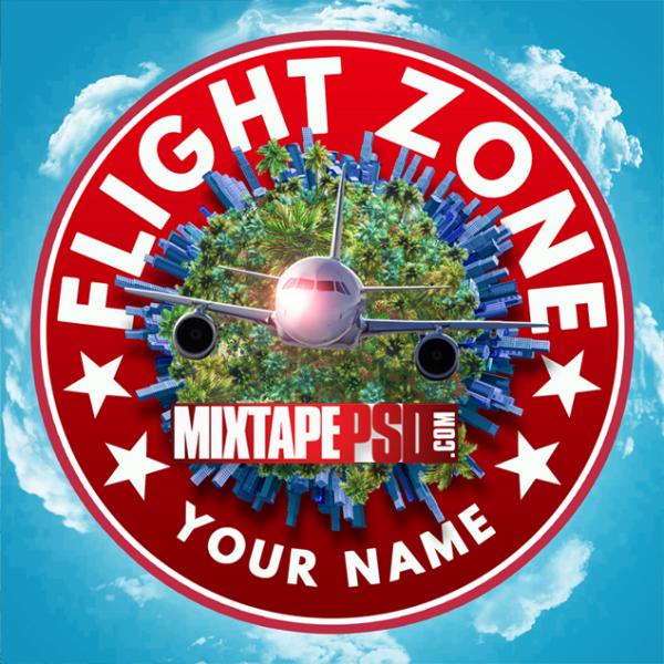 Mixtape Template Flight Zone 10, Mixtape PSD, Mixtapepsd, Mixtape Cover Templates, Free Mixtape PSD Templates