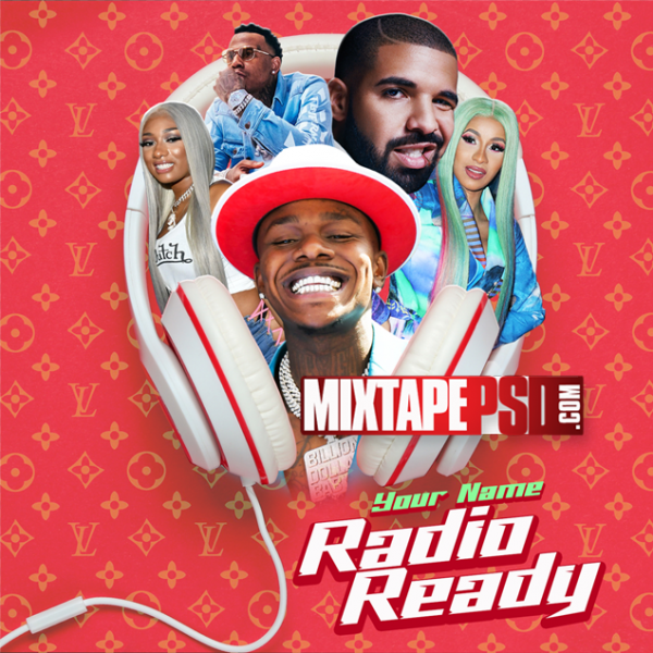 Mixtape Cover Template Radio Ready, Mixtape PSD, Mixtapepsd, Mixtape Cover Templates, Free Mixtape PSD Templates