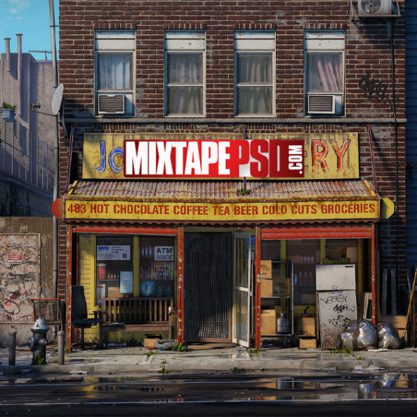 Urban Grocery Store Background, Mixtapepsd, PSD Mixtape, Mixtape