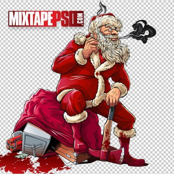 Vector Bad Santa Claus Christmas Burglary
