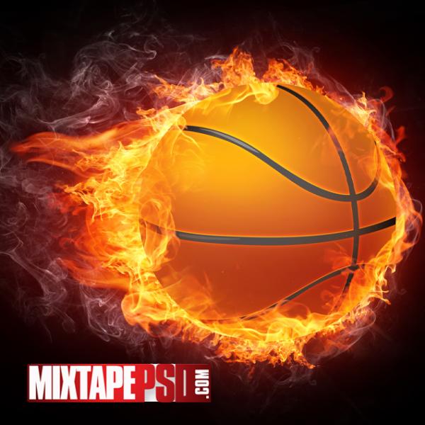 HD Basketball on Fire Wallpaper