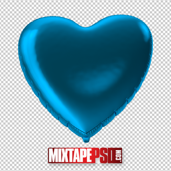 HD Blue Foil Balloon Heart