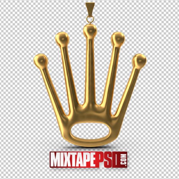 HD Gold Crown Pendant