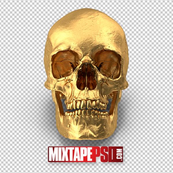 HD Gold Skull