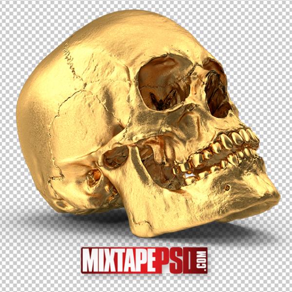 HD Gold Skull 3