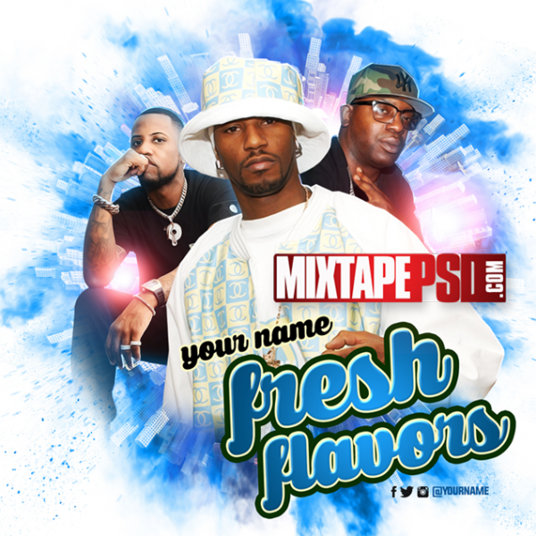 Mixtape Cover Template Fresh Flavors 3