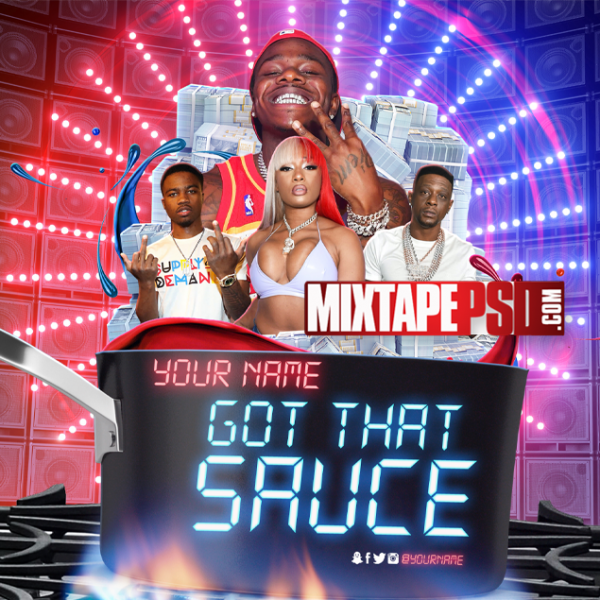 Mixtape Cover Template Got That Sauce 2, Album Covers, Graphic Design, Graphic Designer, How to Make a Mixtape Cover, Mixtape, Mixtape cover Maker, Mixtape Cover Templates, Mixtape Covers, Mixtape Designer, Mixtape Designs, Mixtape PSD, Mixtape Templates, Mixtapepsd, Mixtapes, Premade Mixtape Covers, Premade Single Covers, PSD Mixtape, free mixtape cover psd templates