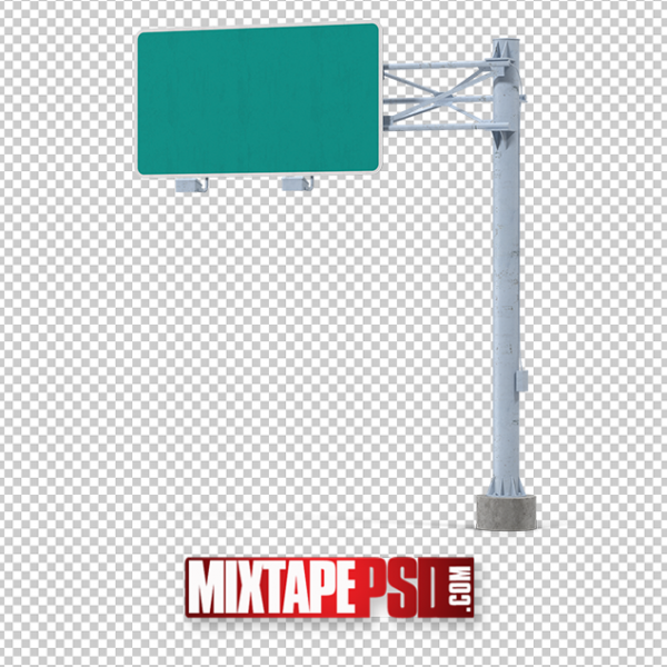 HD Blank Highway Sign