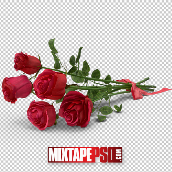 HD Bouquet of Red Roses PNG