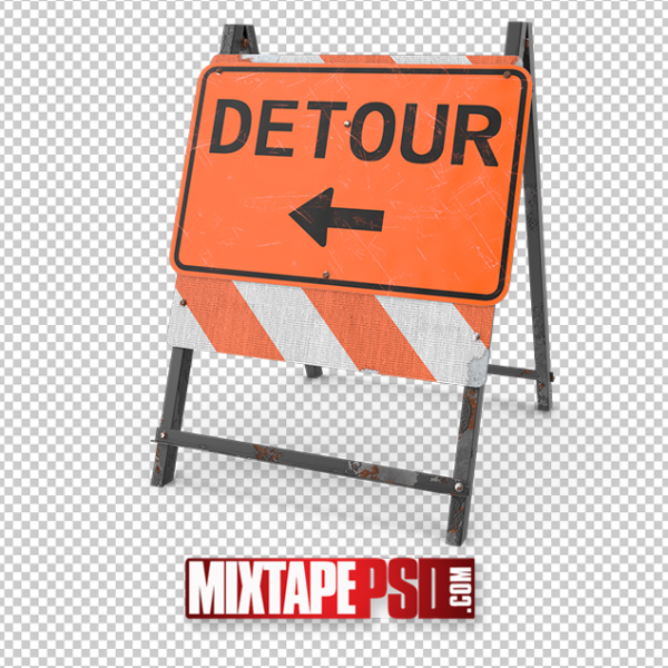 HD Detour Sign png