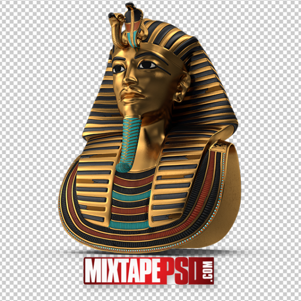 HD Gold King Tut Burial Mask PNG 2