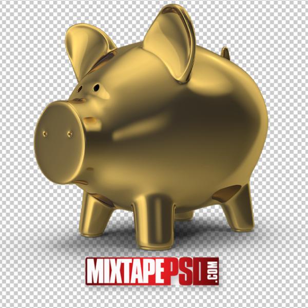 HD Gold Piggy Bank