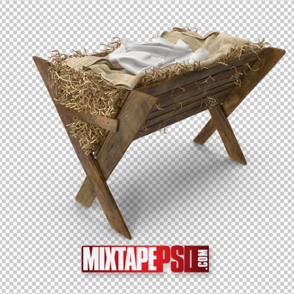 HD Jesus Nativity Crib