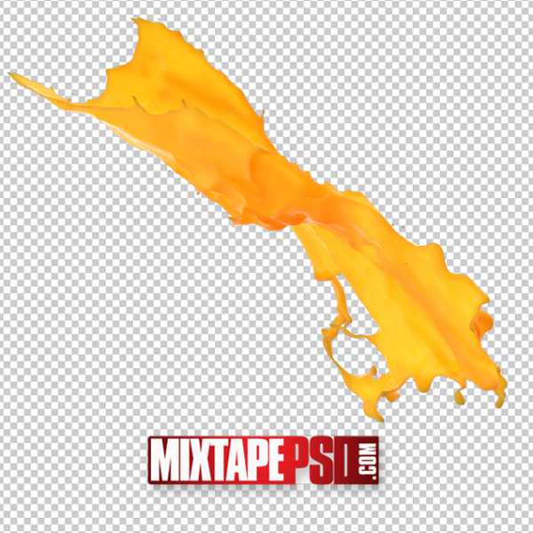 HD Orange Splash PNG 2