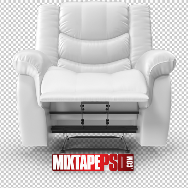 HD White Recliner Chair PNG