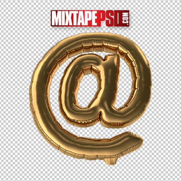 HD Gold Foil Balloon At Sign Symbol