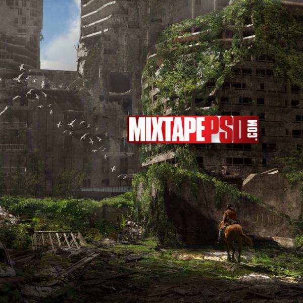 Abandon City War Zone Background