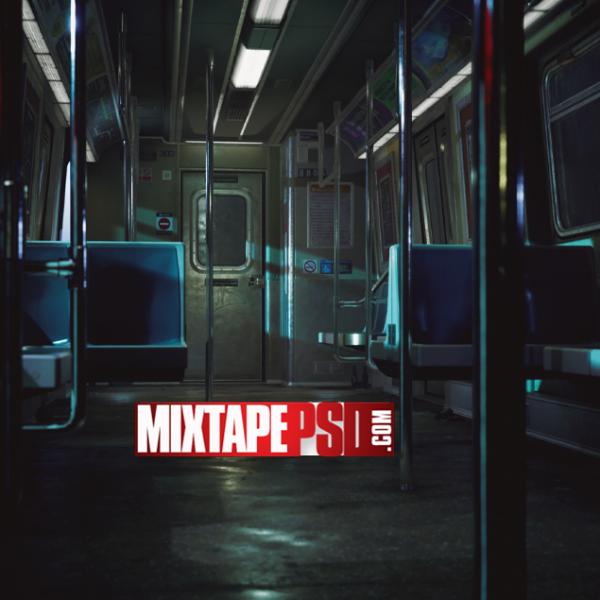 Empty Subway Car Background
