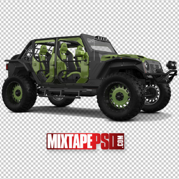 Grey and Army Green Off Road Jeep