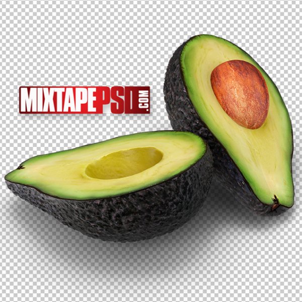 HD Cut Avocado PNG