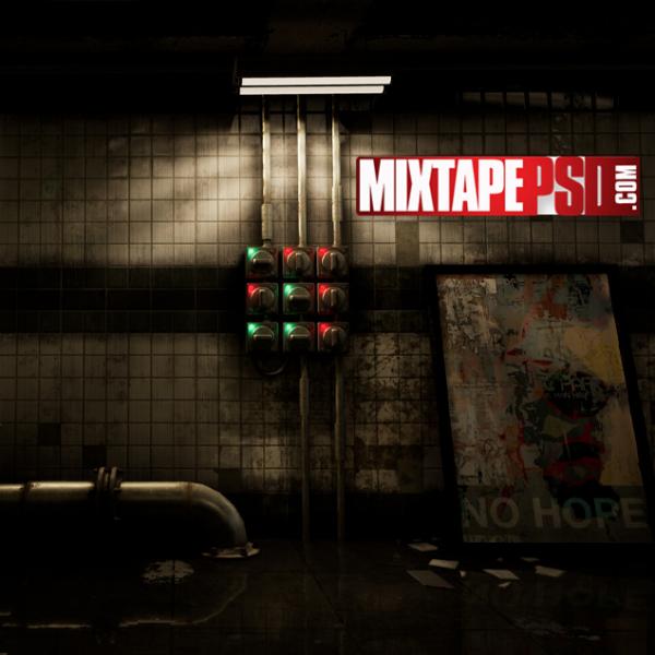 Walking Dead Subway Wall Background